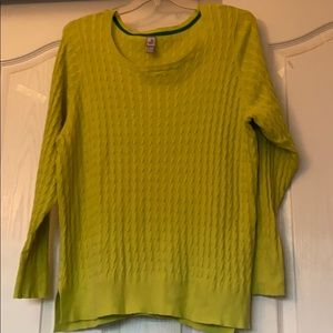 Lime green sweater